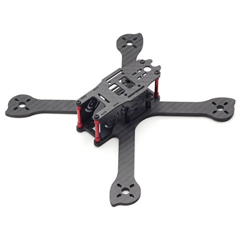 Usmile UX5 210mm 4mm thickness X style Carbon Fiber Quadcopter Frame Kit Mini quad fpv quad quadcopter like QAV-X 210 QAV-R 250 suit for 2204 brushless motor 5