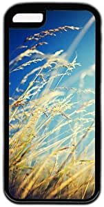 Autumn Grass Theme Case for IPhone 5C PC Material Black by icecream design