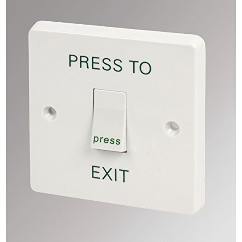 Crabtree 1-Gang 2-Way Retractive Switch marked 'Press to Exit' by Crabtree
