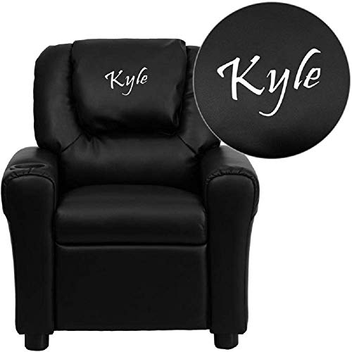 (Custom Designed Kids Recliner with Cup Holder and Headrest with Your Personalized Name)