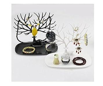Espositore collane e anelli decorativo a forma di cervo Sika con albero White S