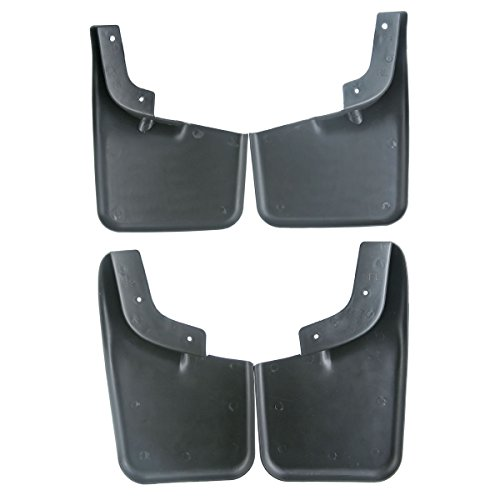 Set of 4 Front and Rear Mud Flaps Splash Guards for Ford F-150 2004-2014 Lincoln Mark LT 2006-2008 with Fender Flares