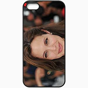 Personalized iPhone 5 5S Cell phone Case/Cover Skin Angelina Jolie Black by lolosakes