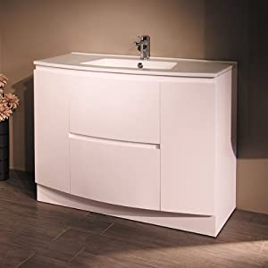 1000 Vanity Unit With Basin For Bathroom Ensuite Luxury Soft Closing White