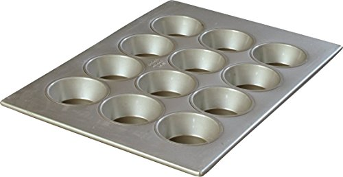 Carlisle 601834 Steeluminum 12 Cup Large Cup Cupcake Pan, 17.75 inch Length x 12.87 inch Width, 4-oz. Capacity (Case of 6)