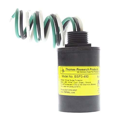 - Thomas Research BSP3-480 Ballast/Driver Surge Protector, LED, HID, CFL, 480V