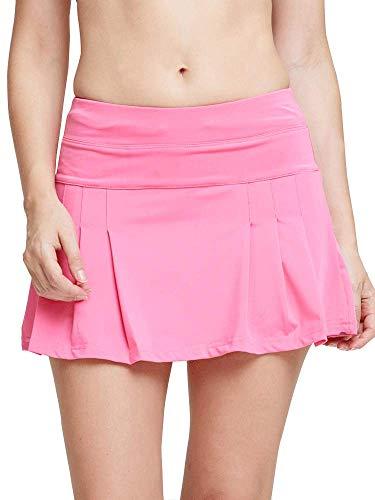 Women's Spike Athletic Mini Skort for Performance Training Tennis Golf & Running Pink Tag XL