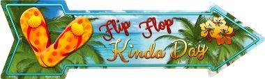 Smart Blonde Flip Flop Novelty Metal Arrow Sign A-316 ()