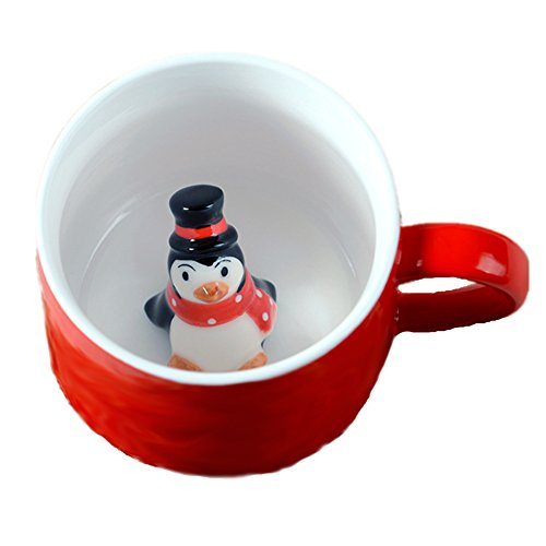 Funny Pictures Of Animals In Costumes (ZaH 300ml 3D Cups Morning Mugs Christmas Mugs, Penguin)