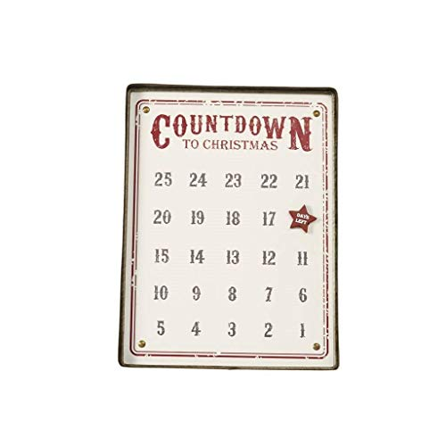 Mud Pie Distressed Tin Advent Calendar, Set of 2 ()