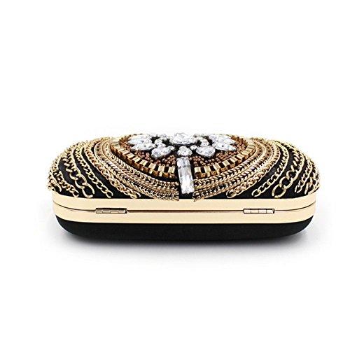 Eysee, Poschette giorno donna oro Gold 16cm*11.5cm*5.5cm