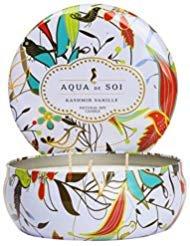 (SOI Company Aqua de SOi 100% Premium Natural Soy Candle, Triple Wick, 21 Ounces (Kashmir Vanille))