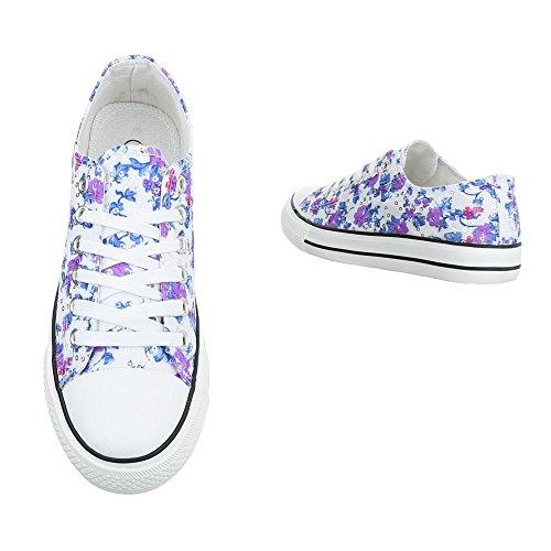 Donna Multi Ital Sneaker Bl46p Blau design q8HS4U