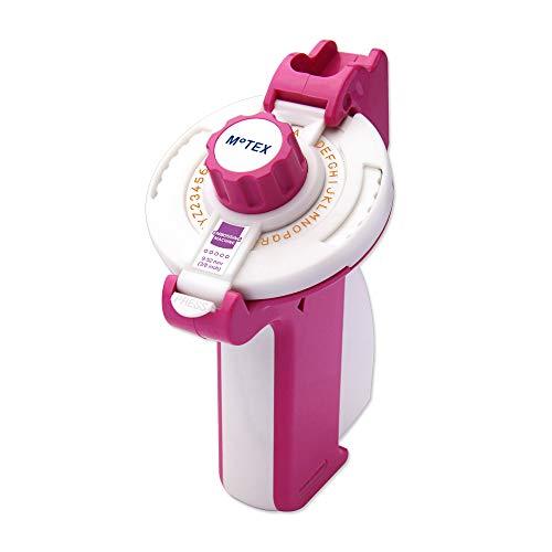 MoTEX Embossing Label Maker, Label Writer -E-202 (Pink) ()