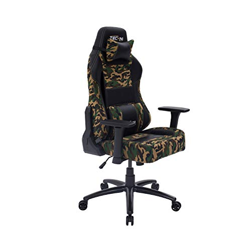 Tehcni Sport Gaming Chair Collection - High Back Racer - Racer Style Video Gaming Chair - Office Chair - Desk Chair (TS60, Camouflage) Uncategorized