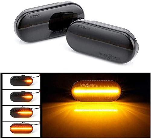 Moligh doll Dynamic LED Turn Signal Light Lamp LED Indicators Blinker 18 SMD Amber Blinker for V-W Golf4 Passat 3BG P-Olo 6N2 9N Sharan VentoT5 S-EAT F-Ord S-Koda