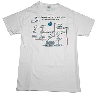 Ripple Junction Big Bang Theory Friendship Algorithm Junior T-Shirt Small White