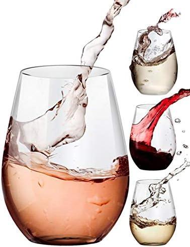 Stemless Wine Glasses 20oz Set Of 4 Clear Amallino Wine Glasses Amazon Com