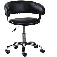Powell 14B2010B Gas Lift Desk Chair, Black