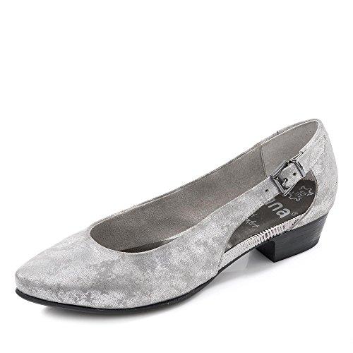 Jana 22203 Dame Pumps Silber (grå / Sølv 212) txNM9jO