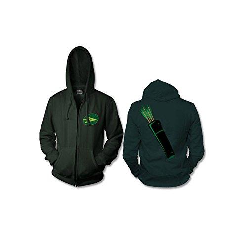 [Green Arrow Zip Up Hoodie Costume -Adult Medium] (Green Arrow Hoodie Costume)