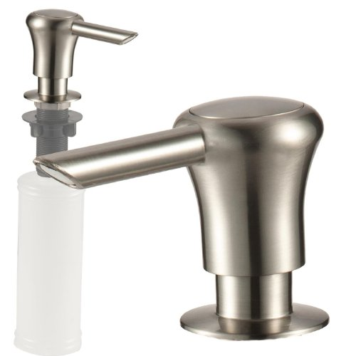 Kitchen Sink Soap or Lotion Pump Dispenser, Stainless Finish