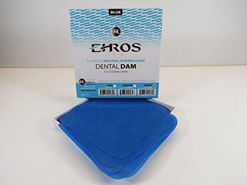 rubber-dental-dam-5x-5-heavy-blue-latex-52-sheets-dique-de-goma-natural-ehros
