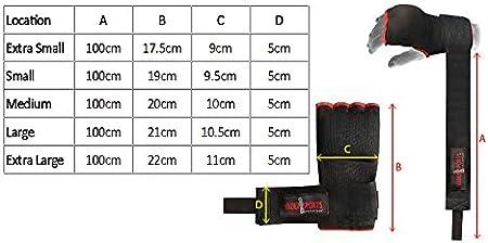 Mano Wrap Negro Azul /Vendaje Rojo acolchado Gel guante de boxeo MMA UFC adulto Quick Wraps/