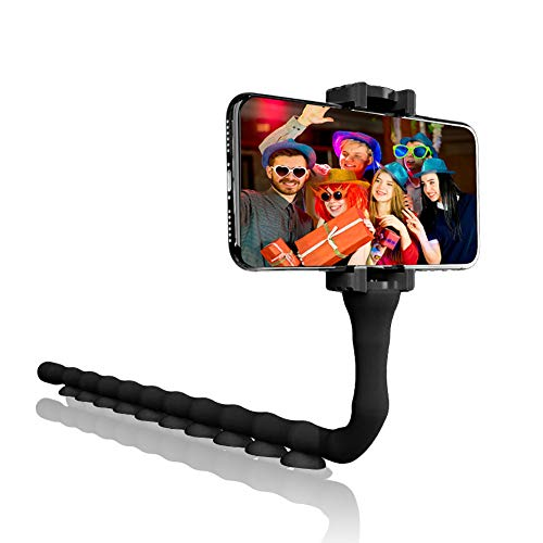 Phone Tripod iPhone Tripod ArgoHome Flexible Tripod for iPhone Camera Stand Holder for iPhone Android Phone, Camera, Sports Camera (Tripod Suction Phone)