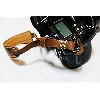 Henri by Eric Kim Handmade Premium Leather Camera Wrist Strap with Pad Pro Edition (Crema Brown)