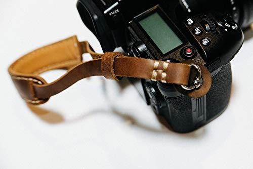 Henri by Eric Kim Handmade Premium Leather Camera Wrist Strap with Pad Pro Edition (Crema - Camera Micro 4 3rds Olympus