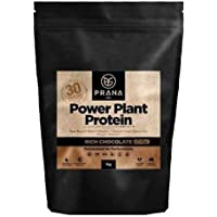 Power Plant Protein by Prana ON - 100% Vegan Plant-Based Protein (1kg, Rich Chocolate)