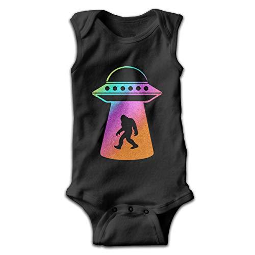 Pastel UFO Abduction Bigfoot Alien Funny Infant Romper Jumpsuit Baby Layette Bodysuit Kids'