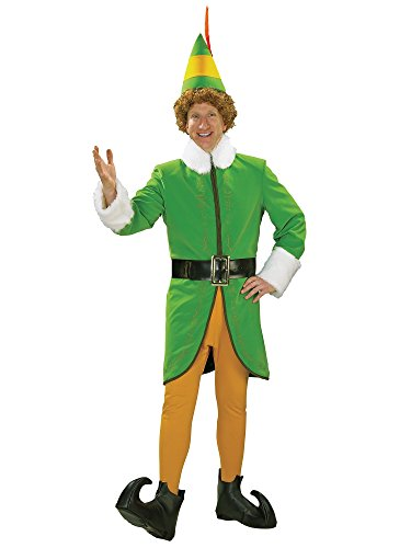 Rubie's Men's Grand Heritage Deluxe Buddy The Elf Costume, Green, -