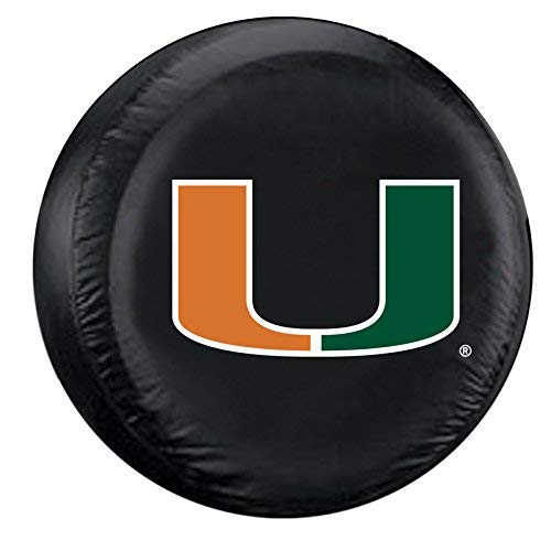 Fremont Die NCAA Miami Hurricanes Tire Cover, Standard Size (27-29
