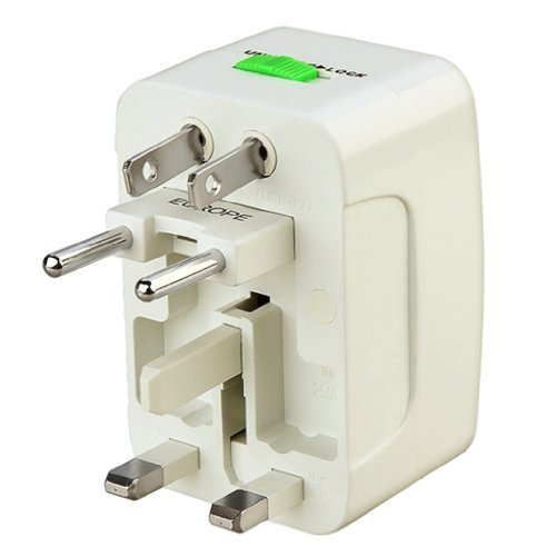 MOGRAB All in ONE International Adaptor Universal World Wide Travel Charger Adaptor Plug  White