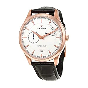 Zenith 18212168501C498 - Reloj de Pulsera para Hombre (Esfera Plateada, Oro Rosa de 18 Quilates) 11