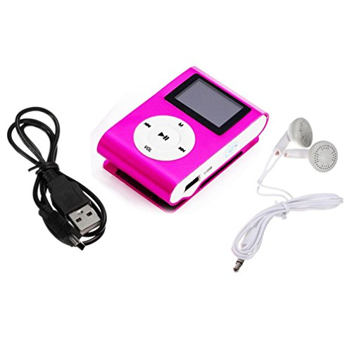 Iusun Mini Usb Clip Mp3 Player Lcd Screen Support 32Gb Micro Sd Tf Card + 1Pc Headset + 1Pc Data - Player Sunglasses Mp3 With