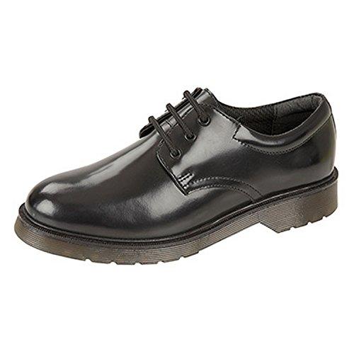 Roamers - Chaussures de ville en cuir - Enfant (39 EU) (Noir)
