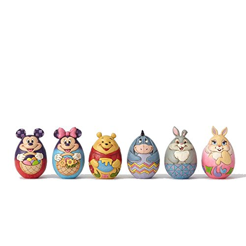 Jim Shore Disney Traditions by Enesco Set of 6 Assorted Disney Character Eggs