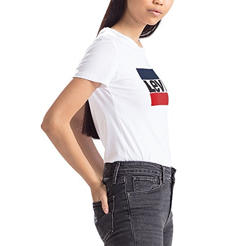 The Tee Logo Camiseta 0297 Mujer Levi's Blanco sportswear Perfect Para White PwqEC8tdC
