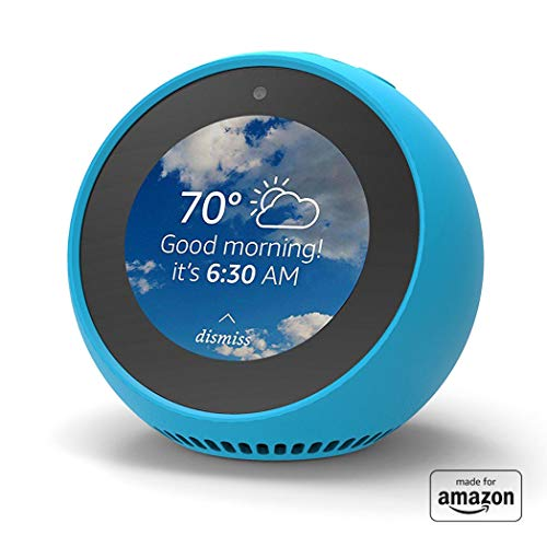 """Made for Amazon"" Mission Cables Skin for Echo Spot – Bahama Blue"