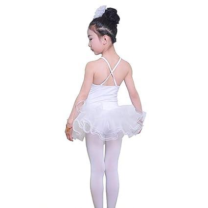 YuFLangel Traje de Baile para niños Falda de Ballet para ...