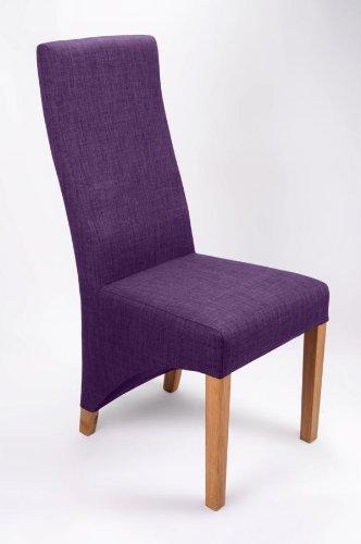Indiana Eiche Möbel Leinen Effekt Pflaume Stuhl Paar