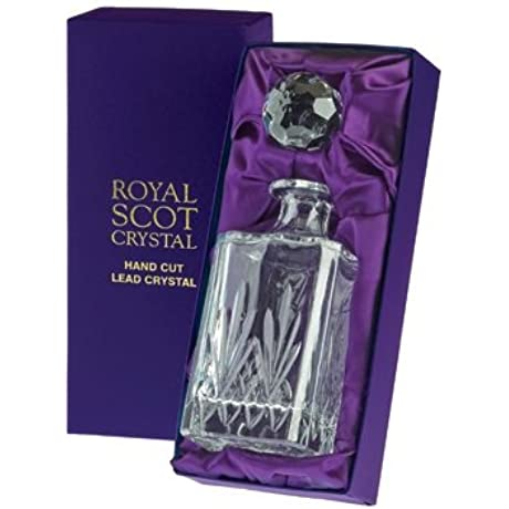 Royal Scot Crystal Whisky Spirit Decanter In Presentation Box Highland