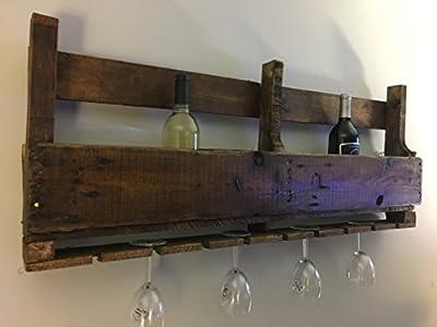 Reclaimed Wood Wine Rack Pallet Wood Wine Serving Bar Furniture Decor