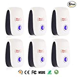 Skillink 6 Packs Ultrasonic Pest Repeller - Electronic Plug -In Pest Control Ultrasonic - Best Repellent for Cockroach, Rodents, Flies, Roaches, Ants, Mice,Spiders, Fleas