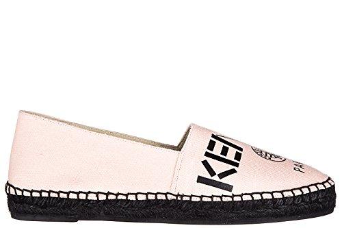 Kenzo-Womens-Cotton-Espadrilles-Slip-On-Shoes-Paris-Pink
