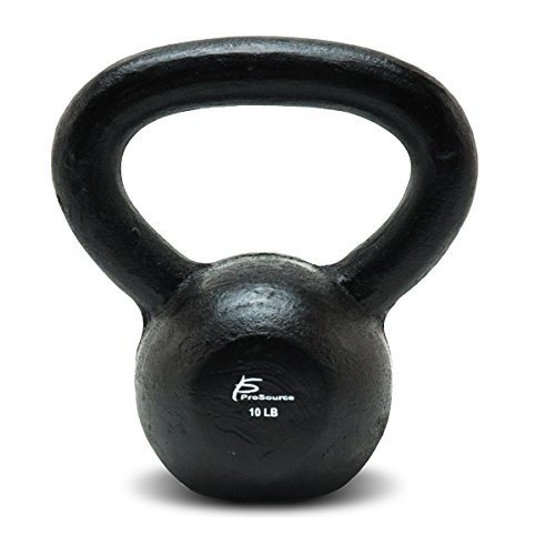 ProSource Solid Cast Iron Kettlebells Weights for Full Body Workout, 5 to 45 pounds
