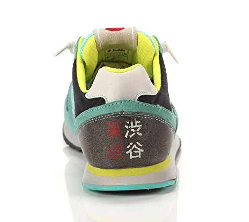 LOTTO R7032 TOKYO SHIBUYA TURQ GR/TURQ PA sneakers donna camoscio e tela - Turchese, EUR 41